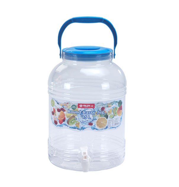 D-47 Round Carry Jug 15 Litres with Tap