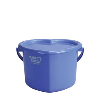 E-9 Heart Shaped Pail 3 Gallons w/ Cover