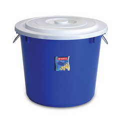 PC-19 Pail 60 Litres w/ Cover & Chrome Handle